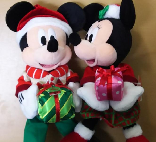 大当たり「ミッキー&ミニー クリスマスバージョンぬいぐるみセット ディズニーランドVer」