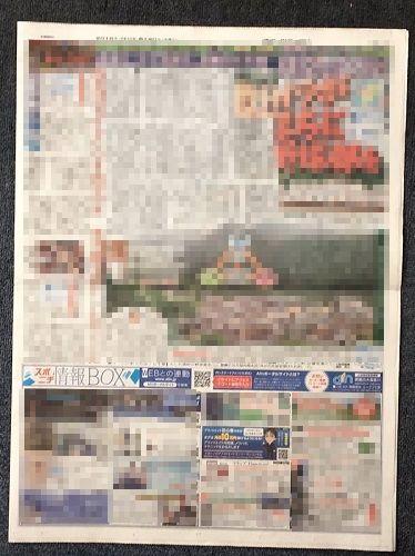 スポーツニッポン新聞(スポニチ)西部版2018年06月20日発売